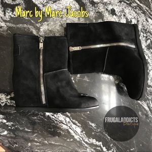 Marc by Marc Jacobs Harper Suede Ankle Wedge Boots